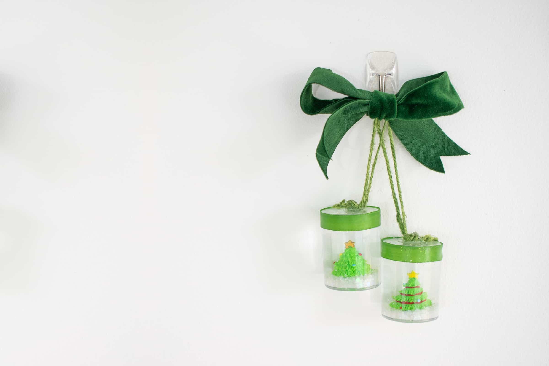 miniature christmas snow globes