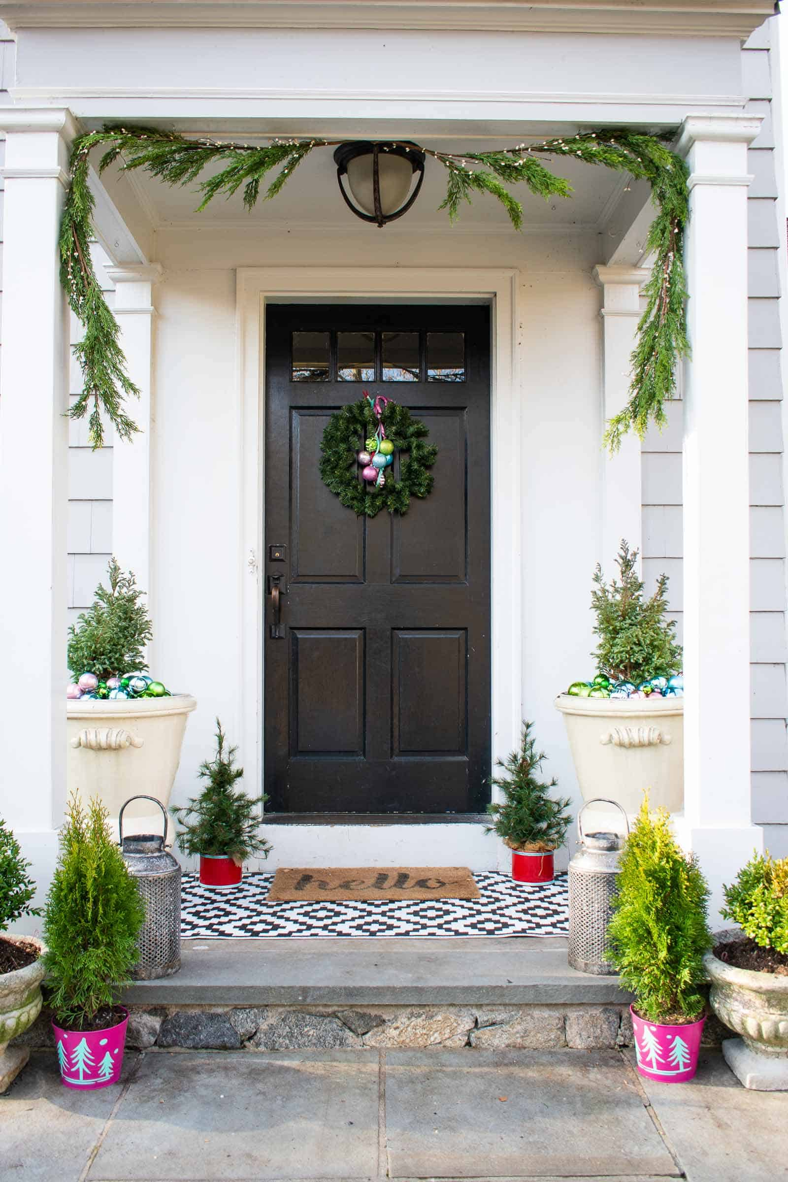 garland over the door