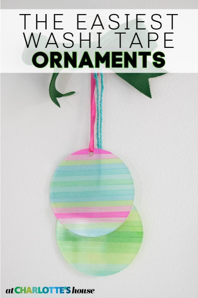 washi tape acrylic ornaments