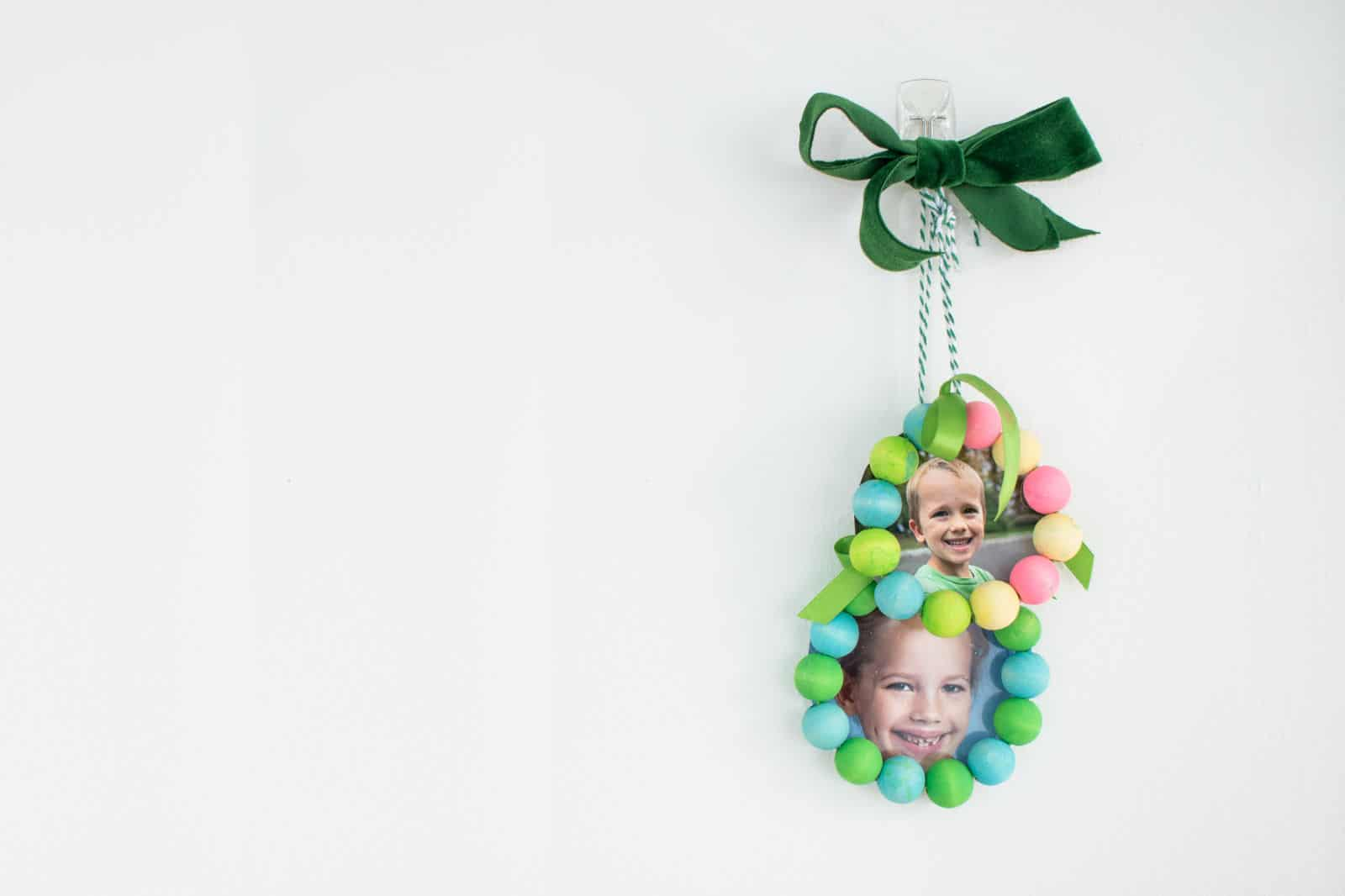 beaded picture frame ornaments