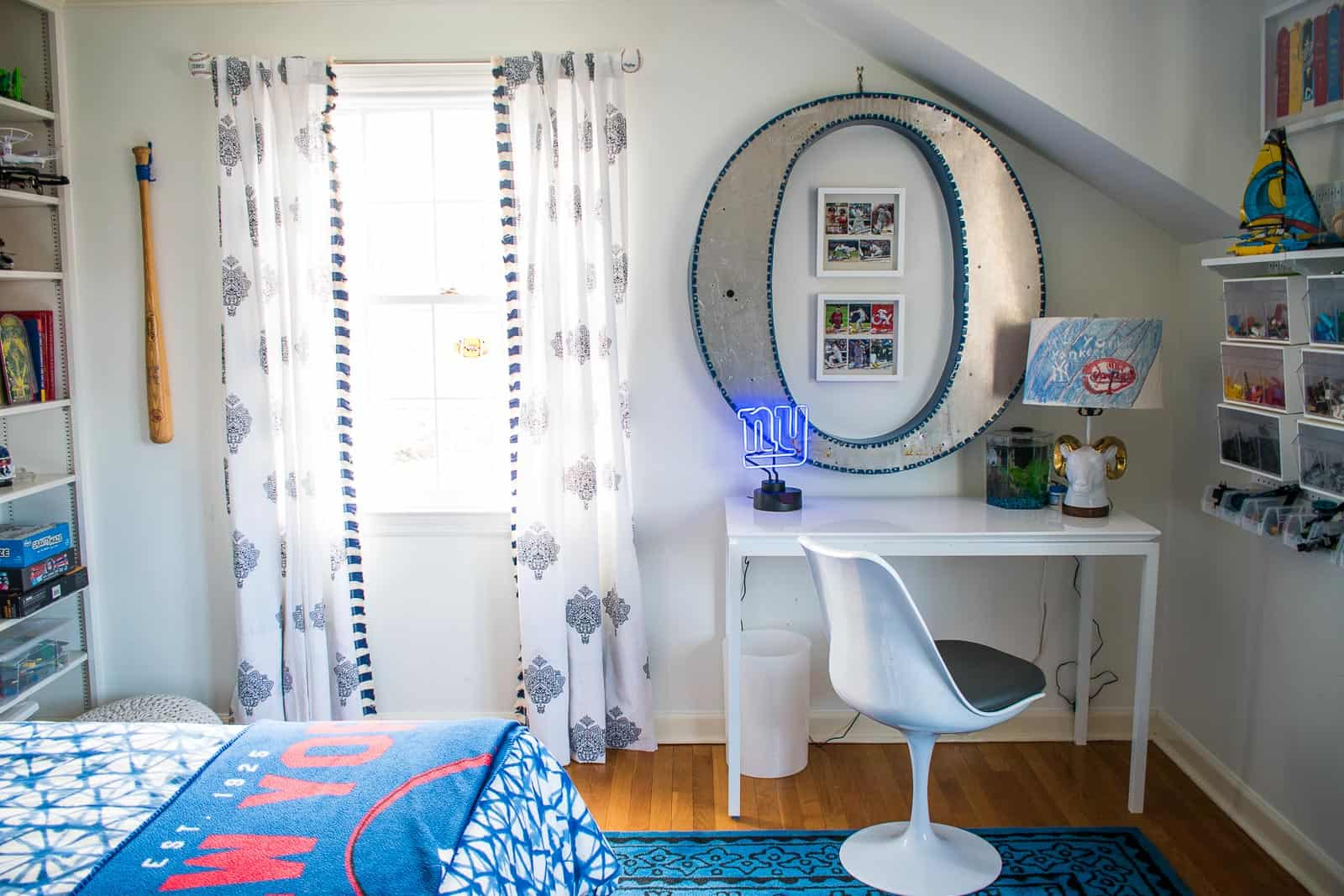 curtains in boys room