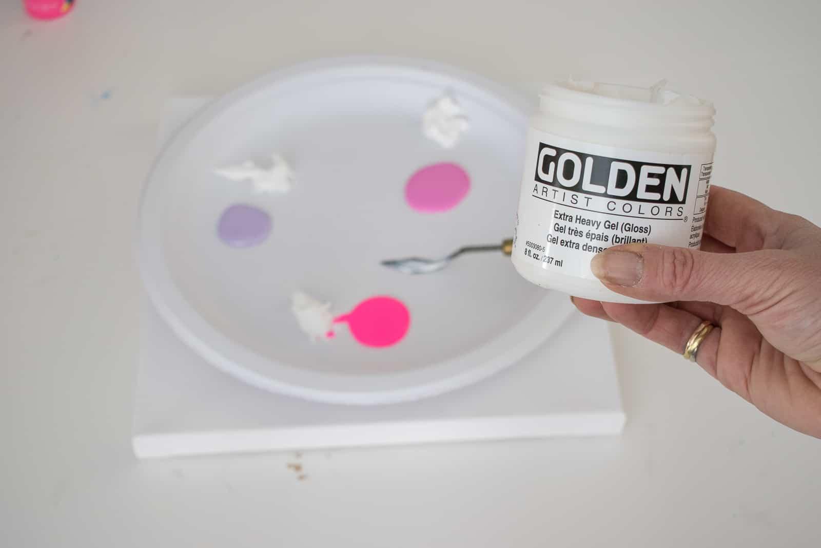 add gel medium to craft paint