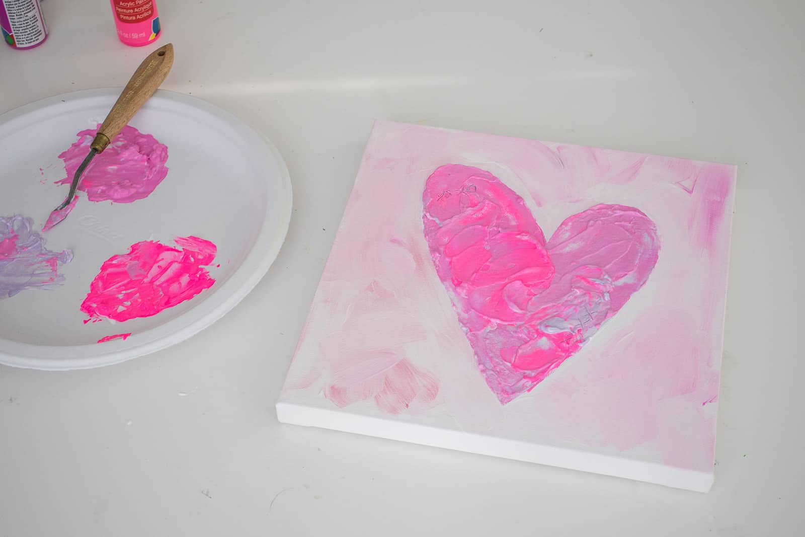 finished painted heart