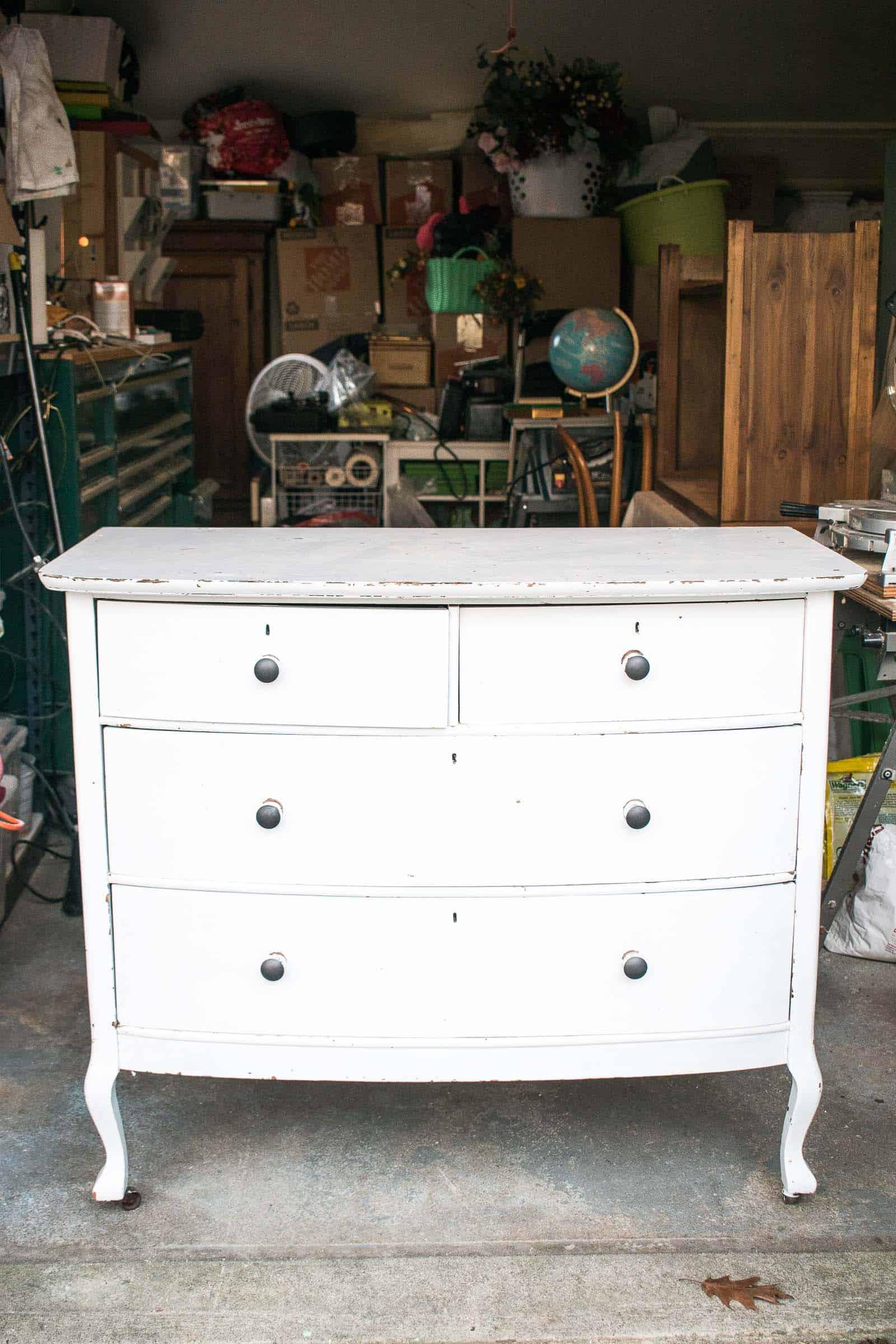wood dresser before