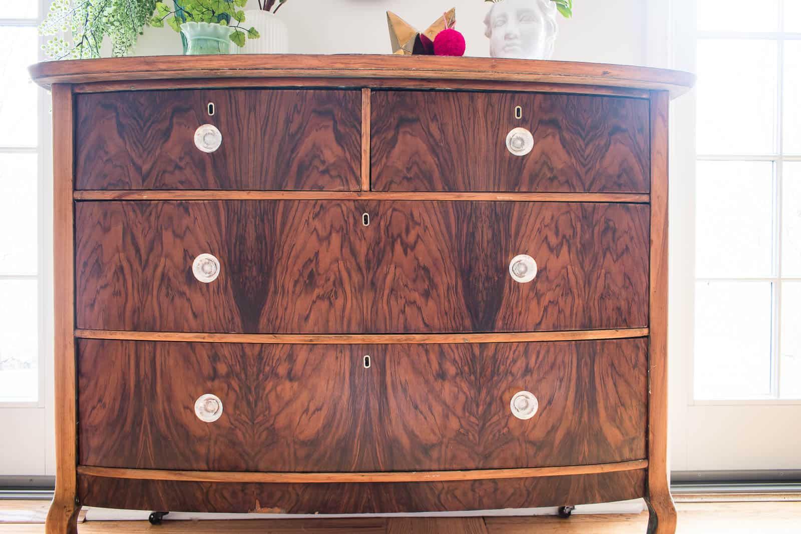 stripped wood dresser