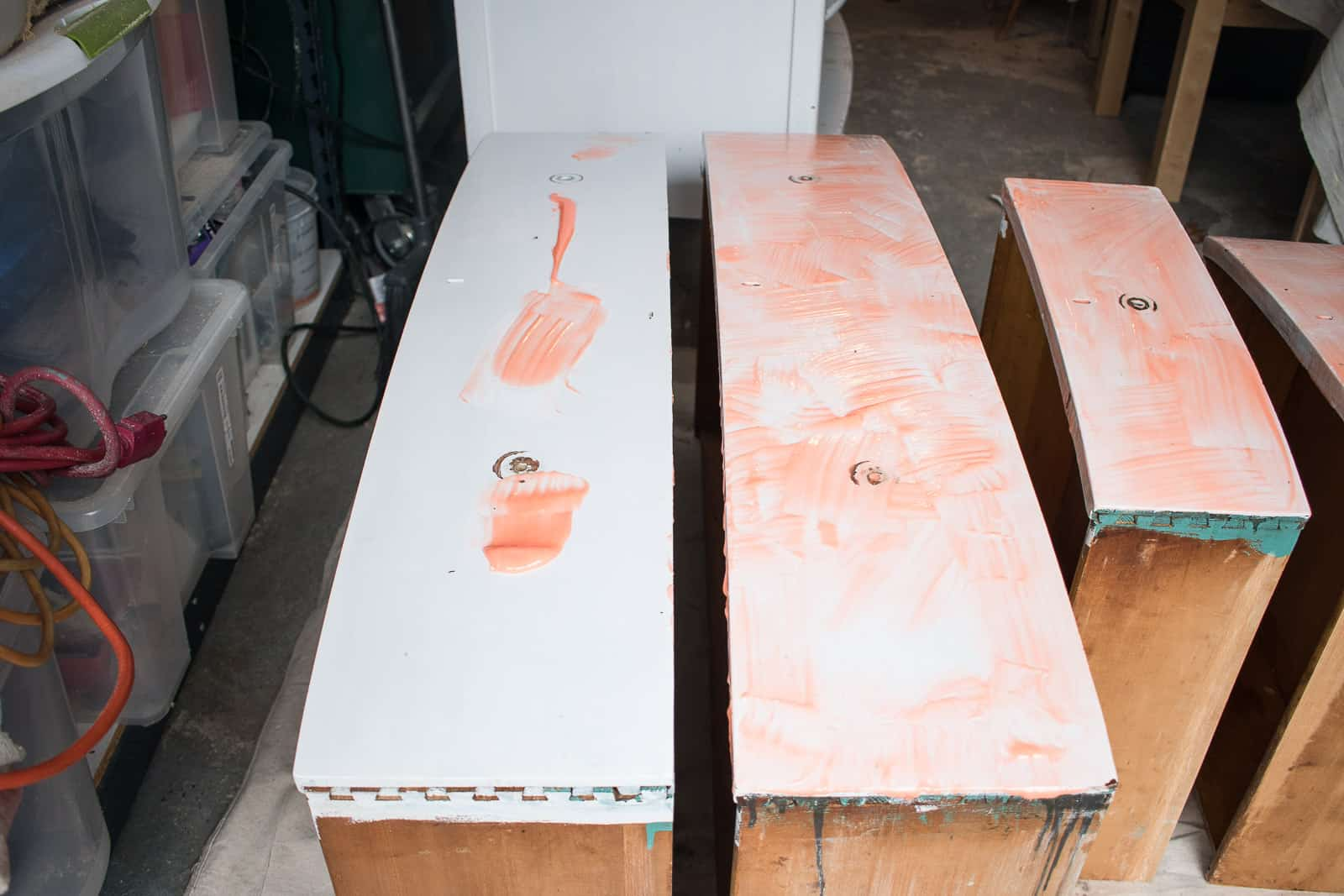 stripper applied to painted furniture