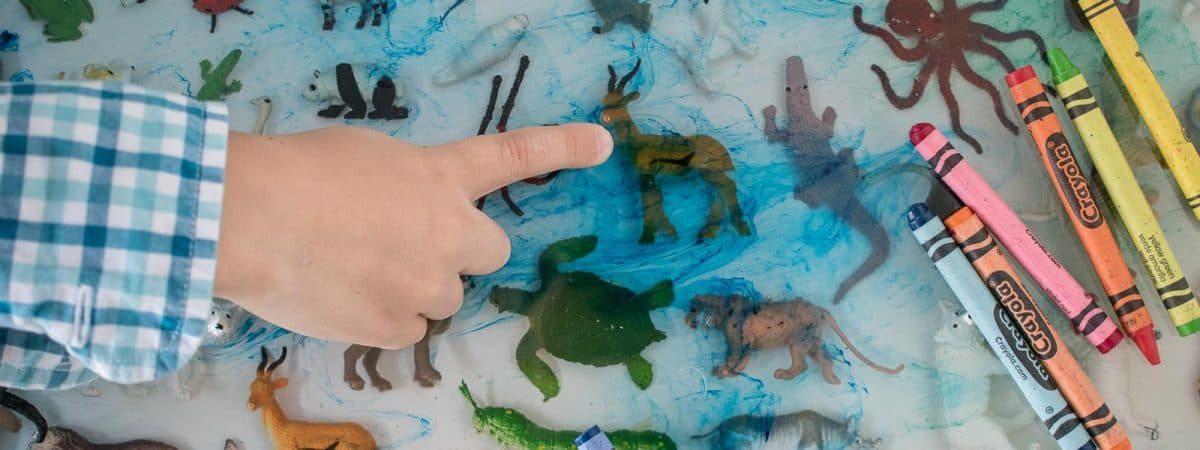 Setting Plastic Toy Animals in a Resin Table Top