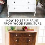 stripping paint from wooden furniture