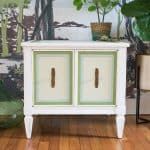 frogtape painted side table