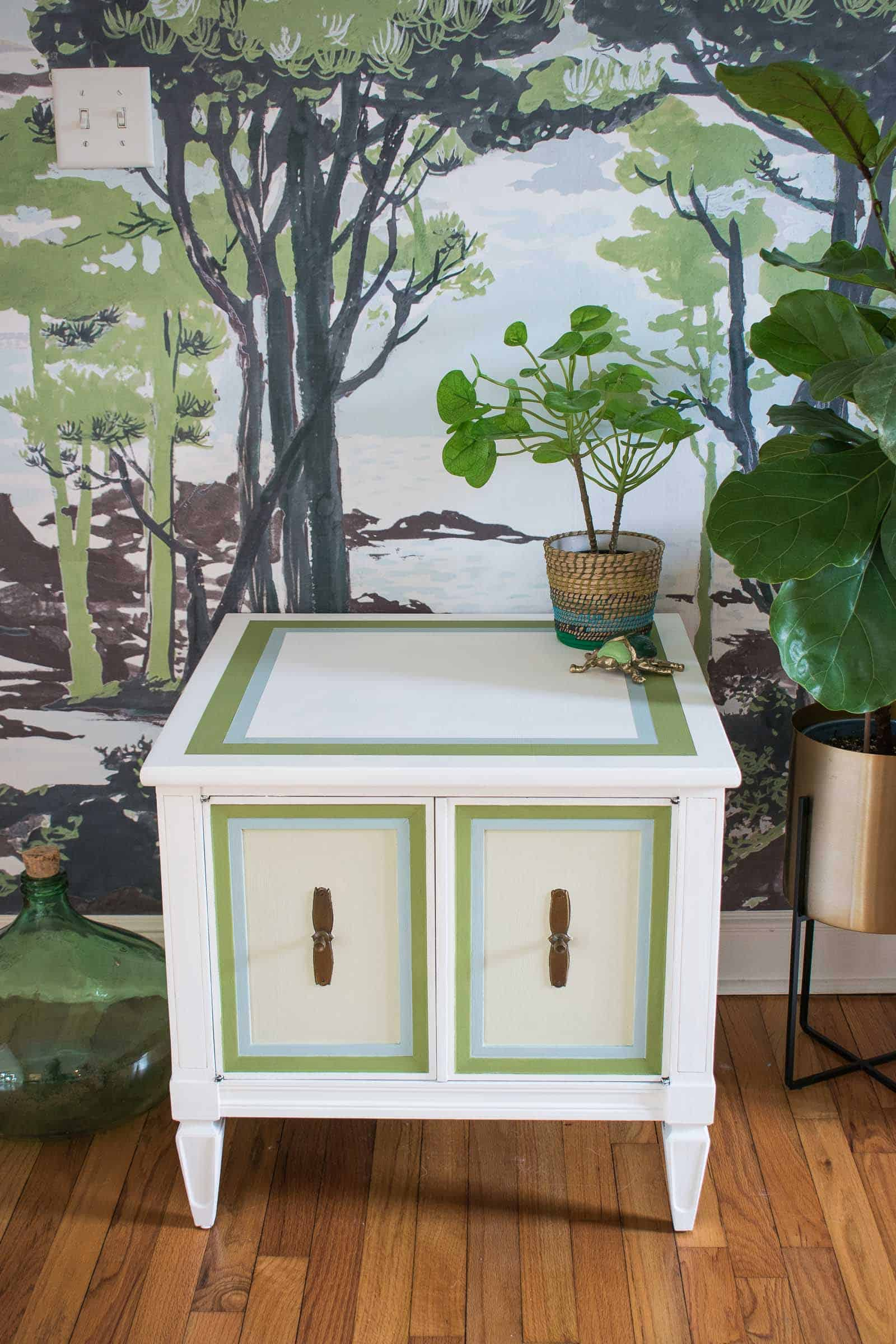 natural beauty trend on painted side table