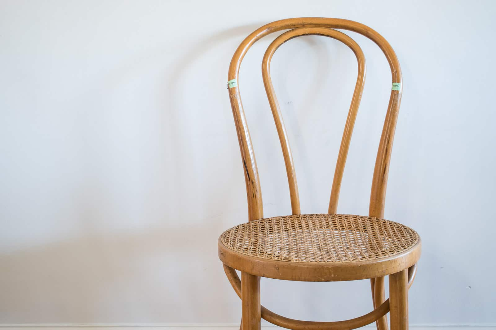 thrifted bentwood chair