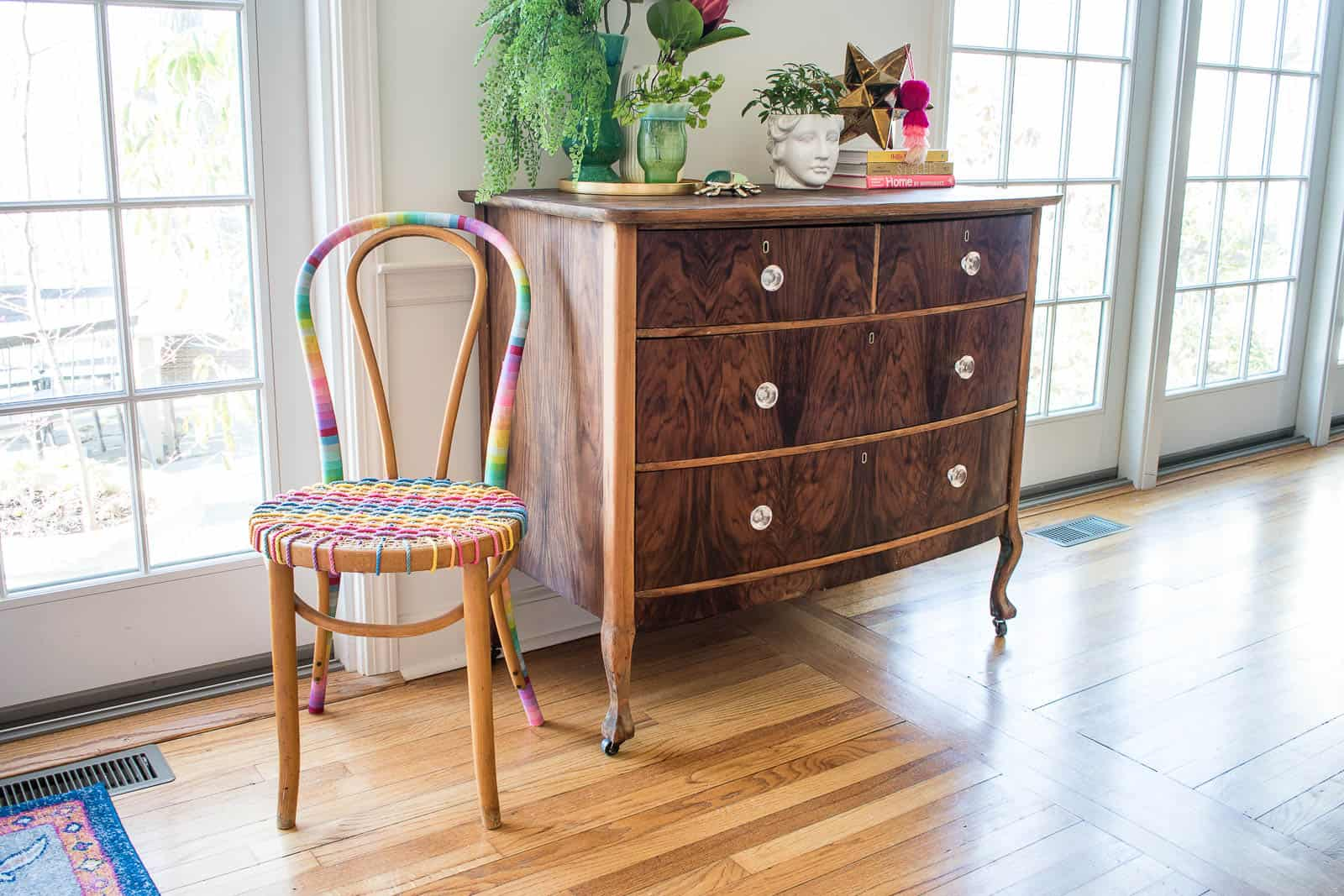 thrifted bentwood chair makeover