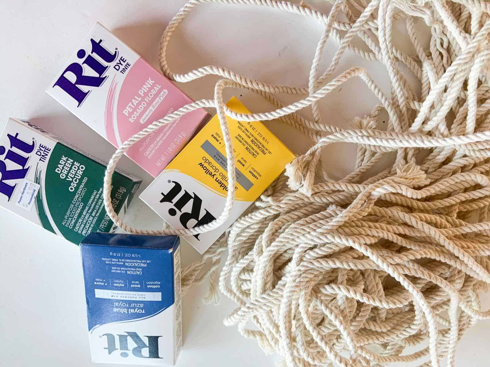 rit dye with rope