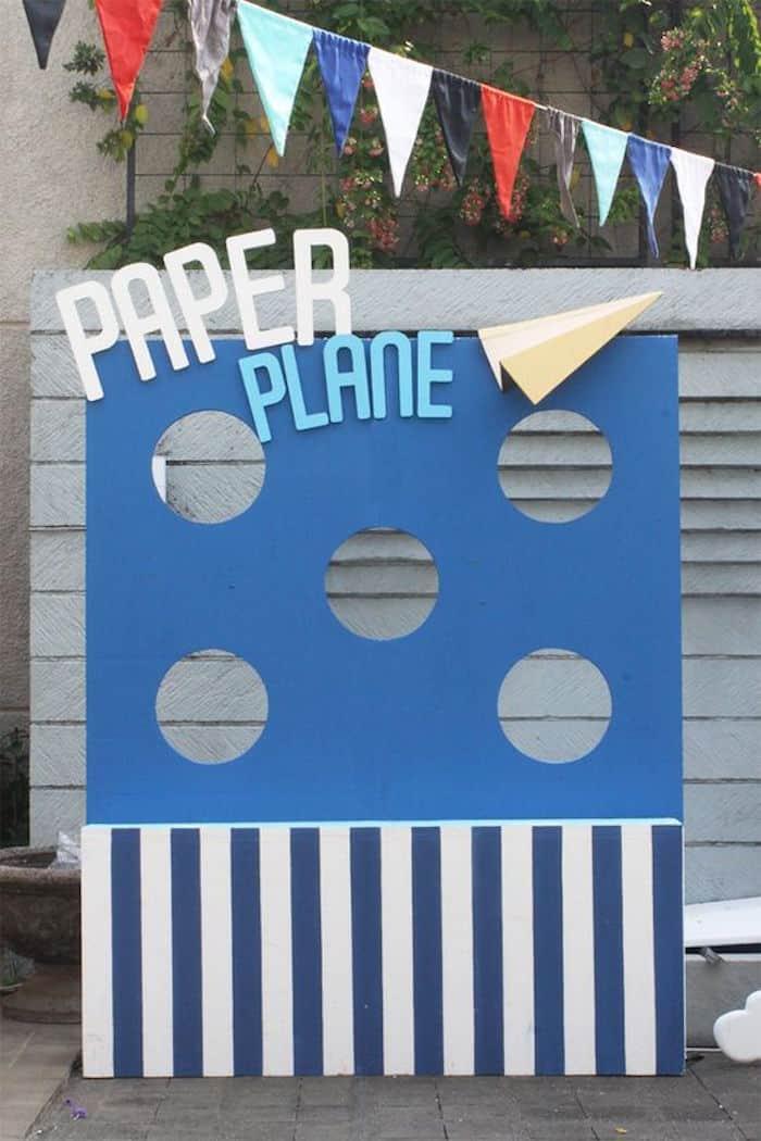 paper airplane target