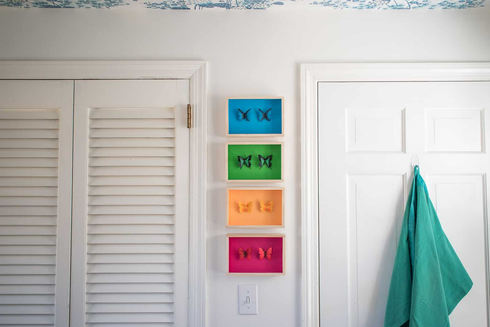 colorful shadow boxes