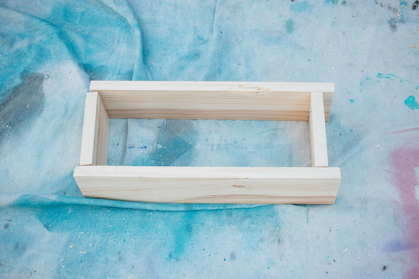build the frame for the bench