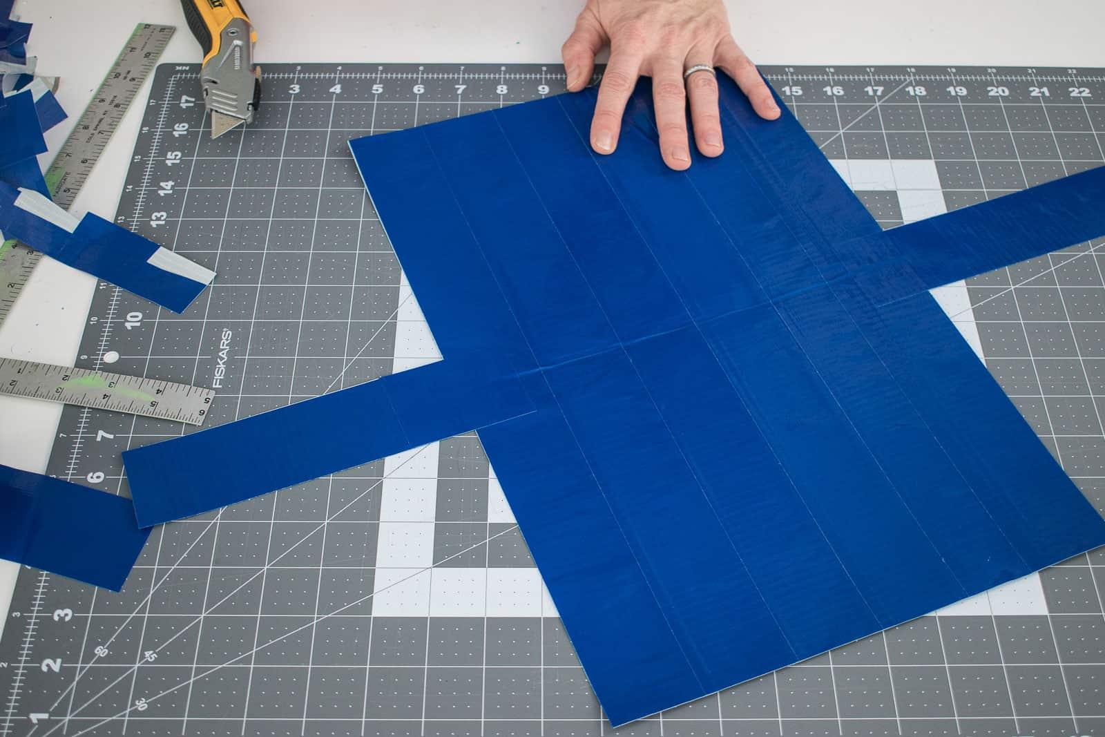 duck tape messenger bag pieces