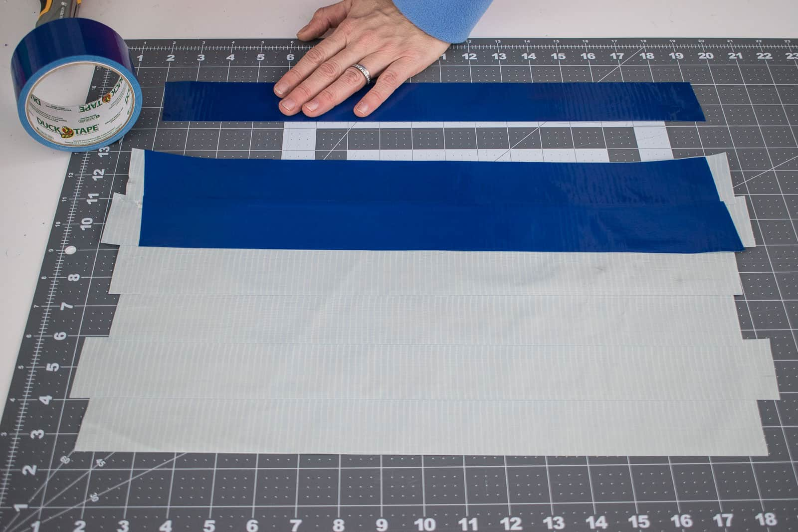 creating a duct tape cloth