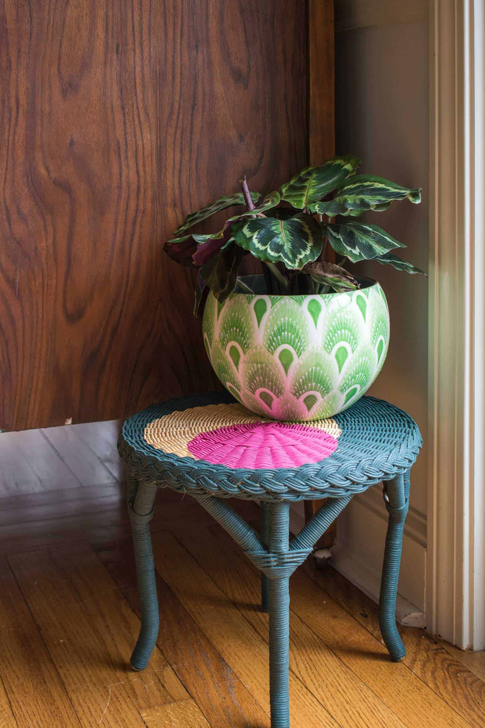 painted plant stand makeover