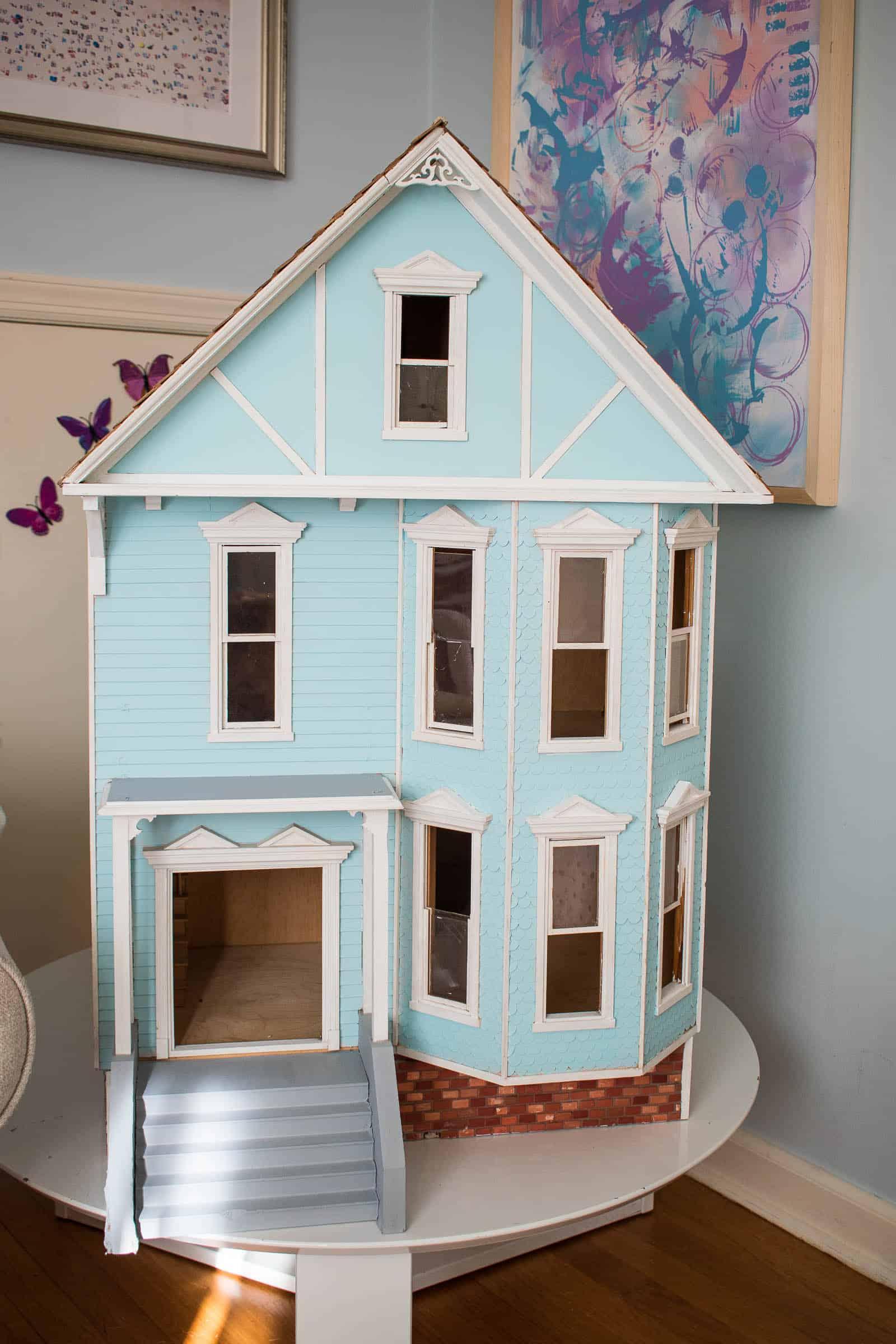 final paint color on dollhouse