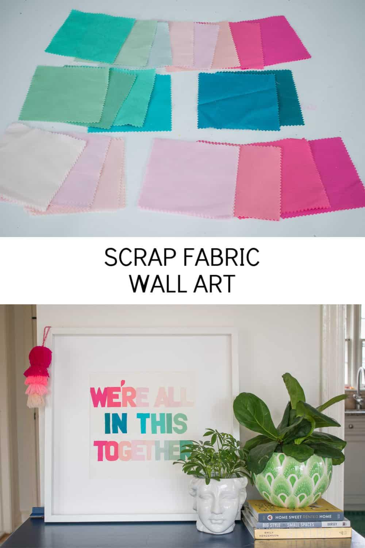 scrap fabric art