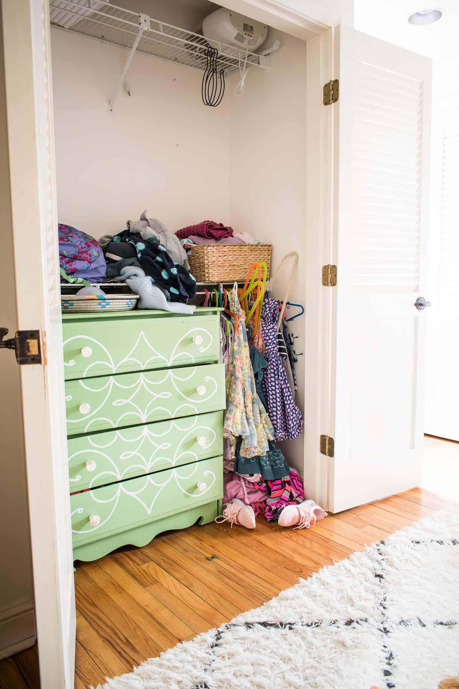 kids closet before