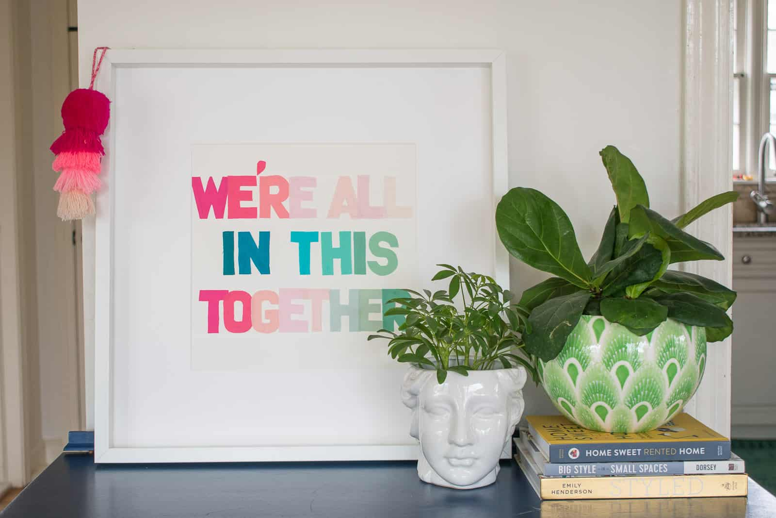 frame and display the quote