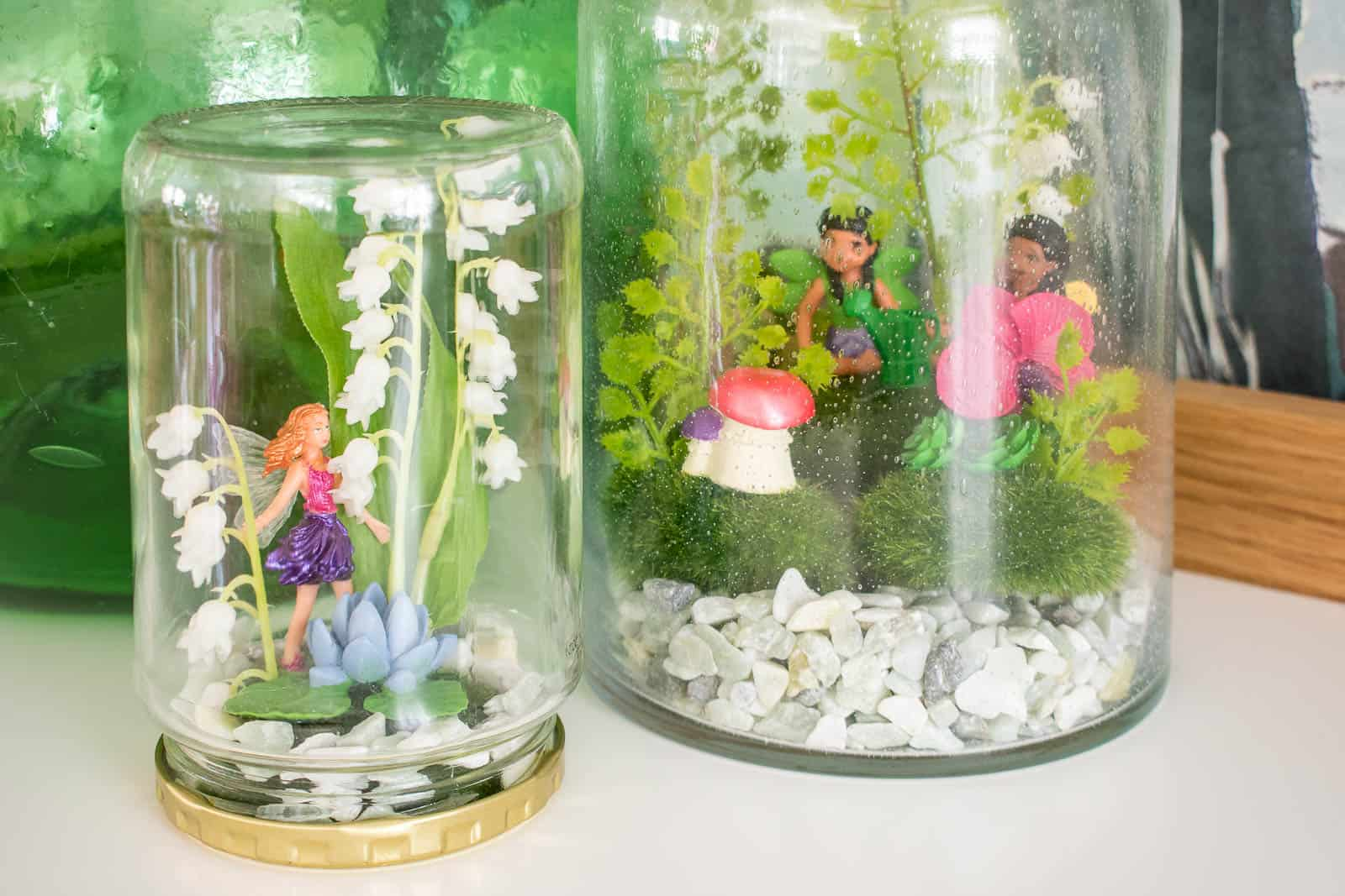 diy pickle jar fairy house