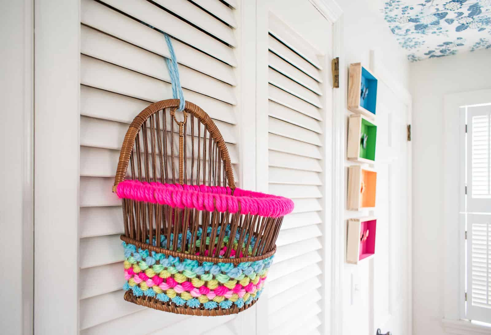 how to makeover a thrift store basket