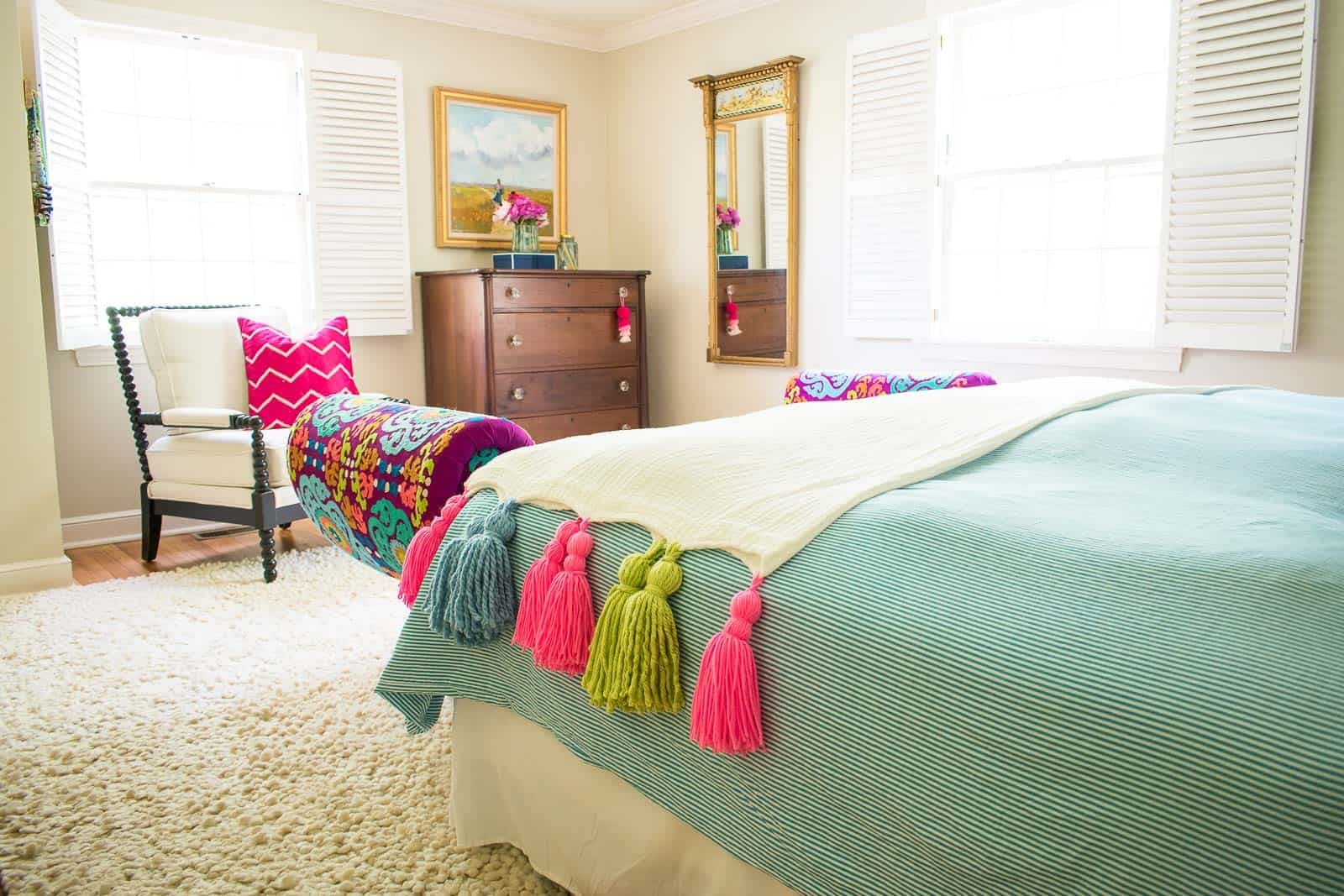 adding color to a master bedroom