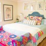 tassel blanket in master bedroom