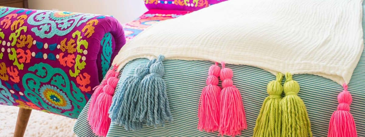 How to Make a Colorful Tassel Blanket