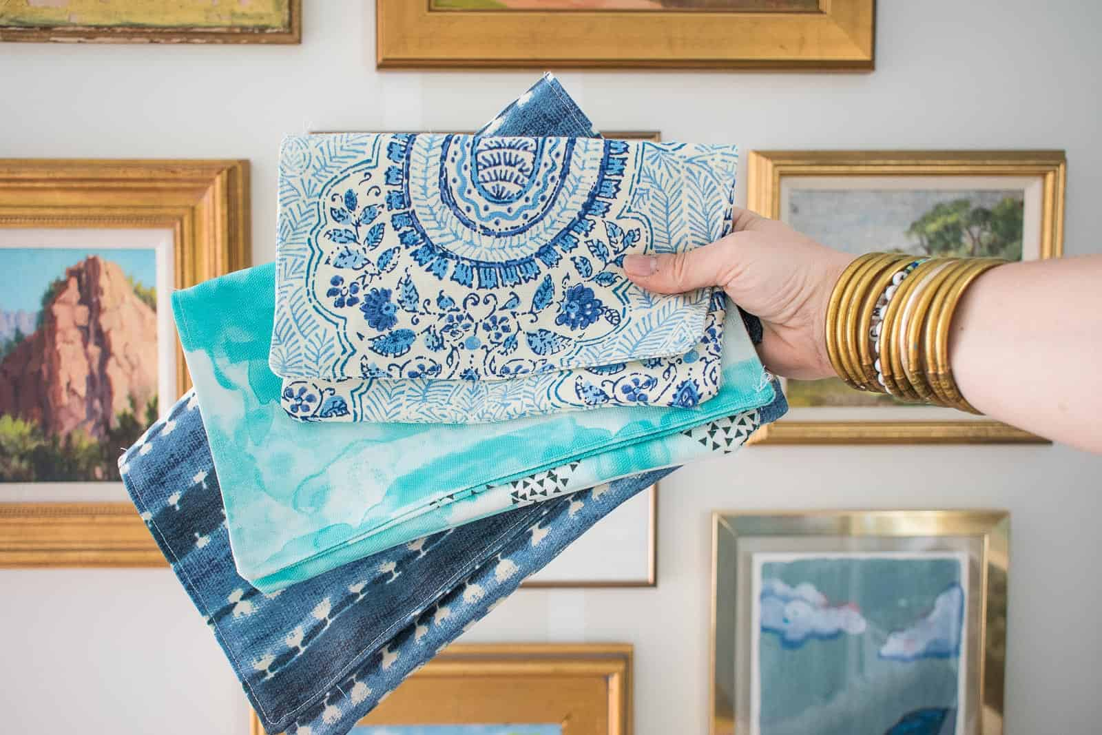 how to sew a fabric clutch
