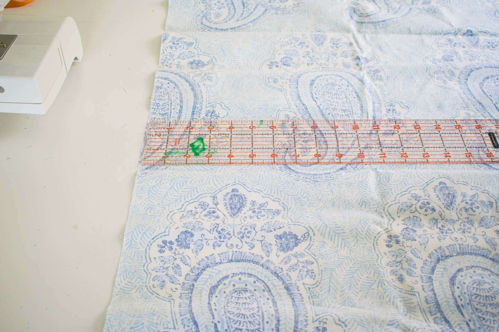 measuring and cutting your fabric