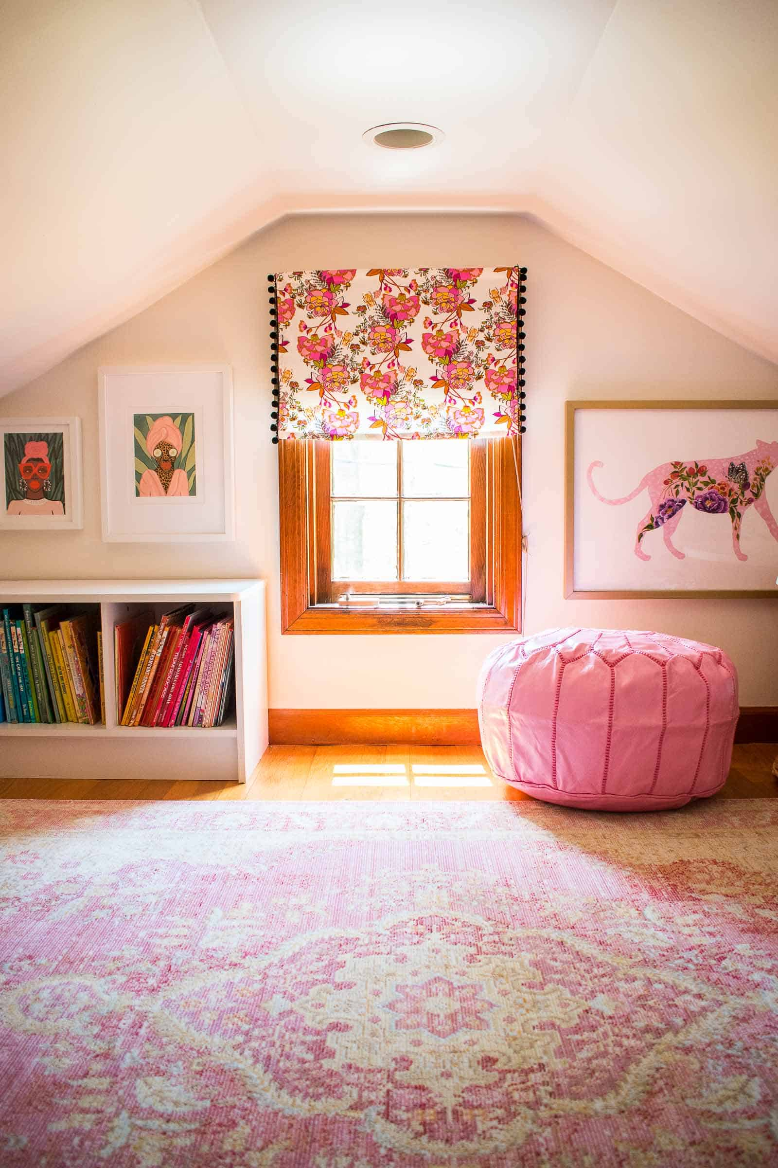 new valance in reading nook
