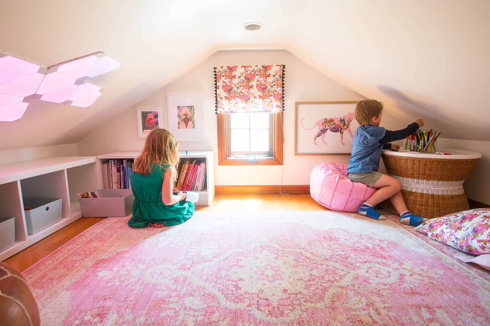 new rug in reading nook