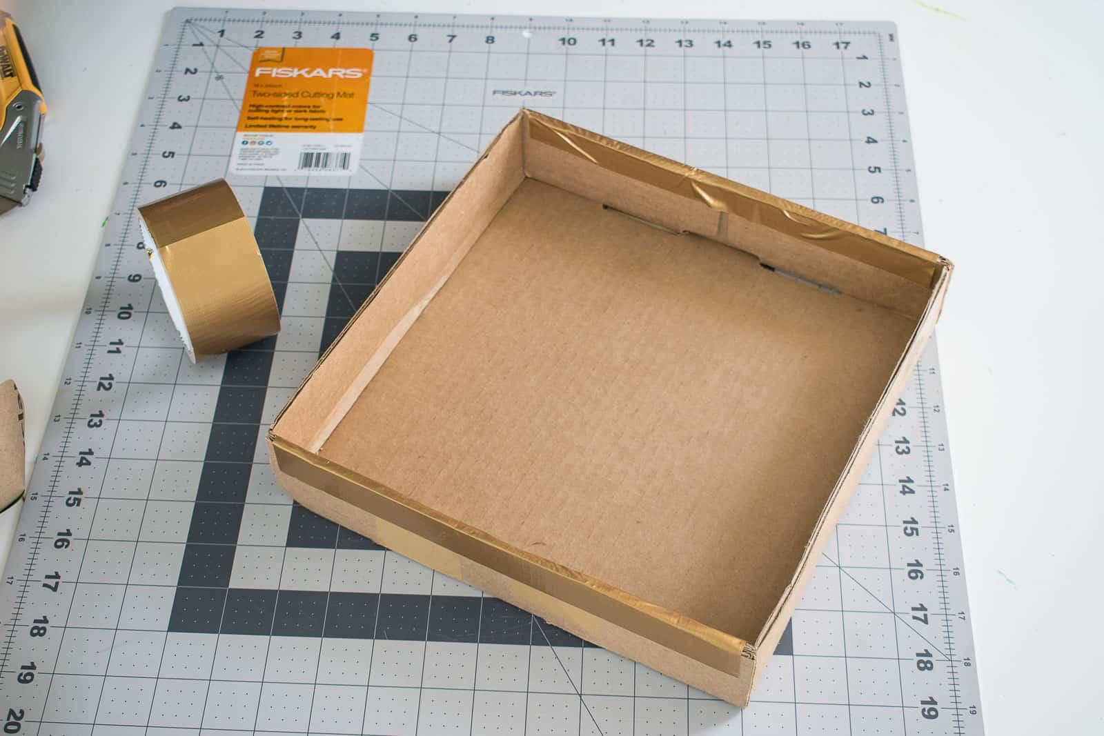 box for succulent centerpiece