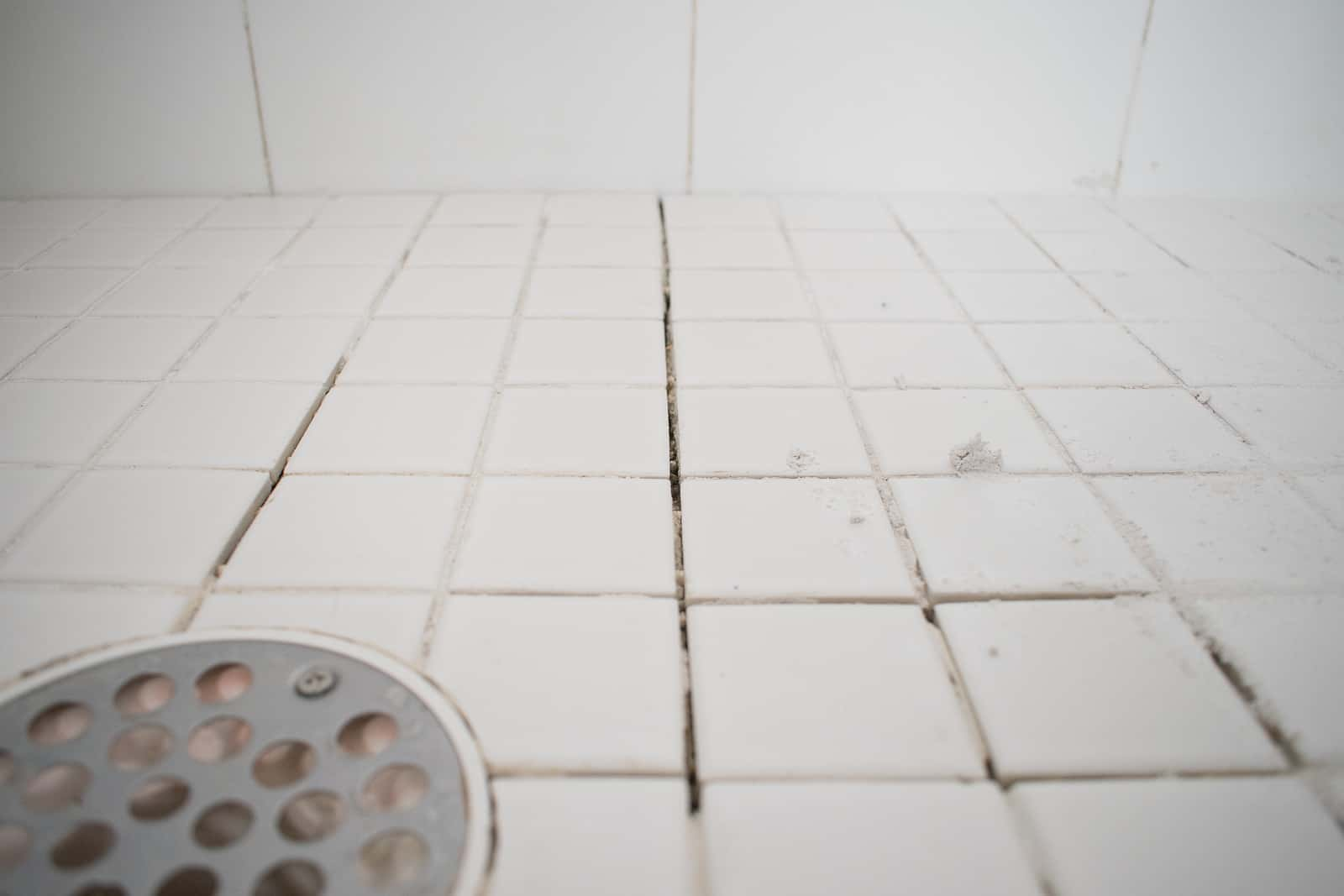 missing grout in the shower