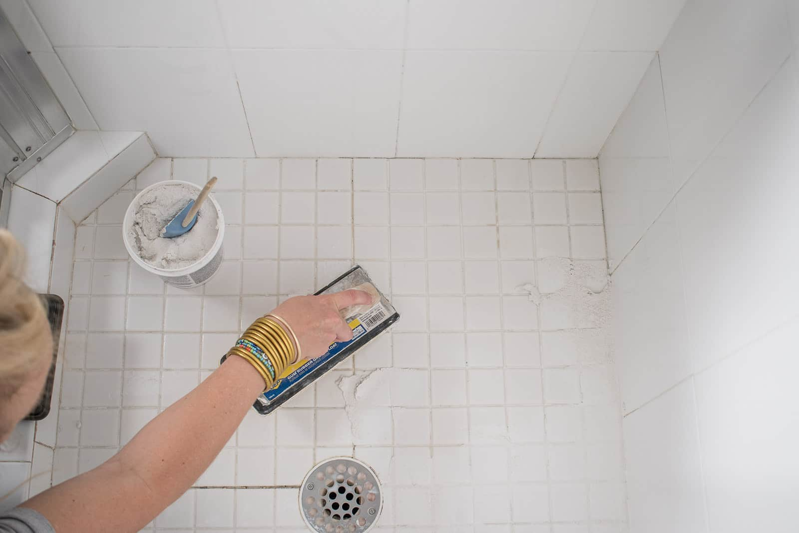 use grout float to apply more grout