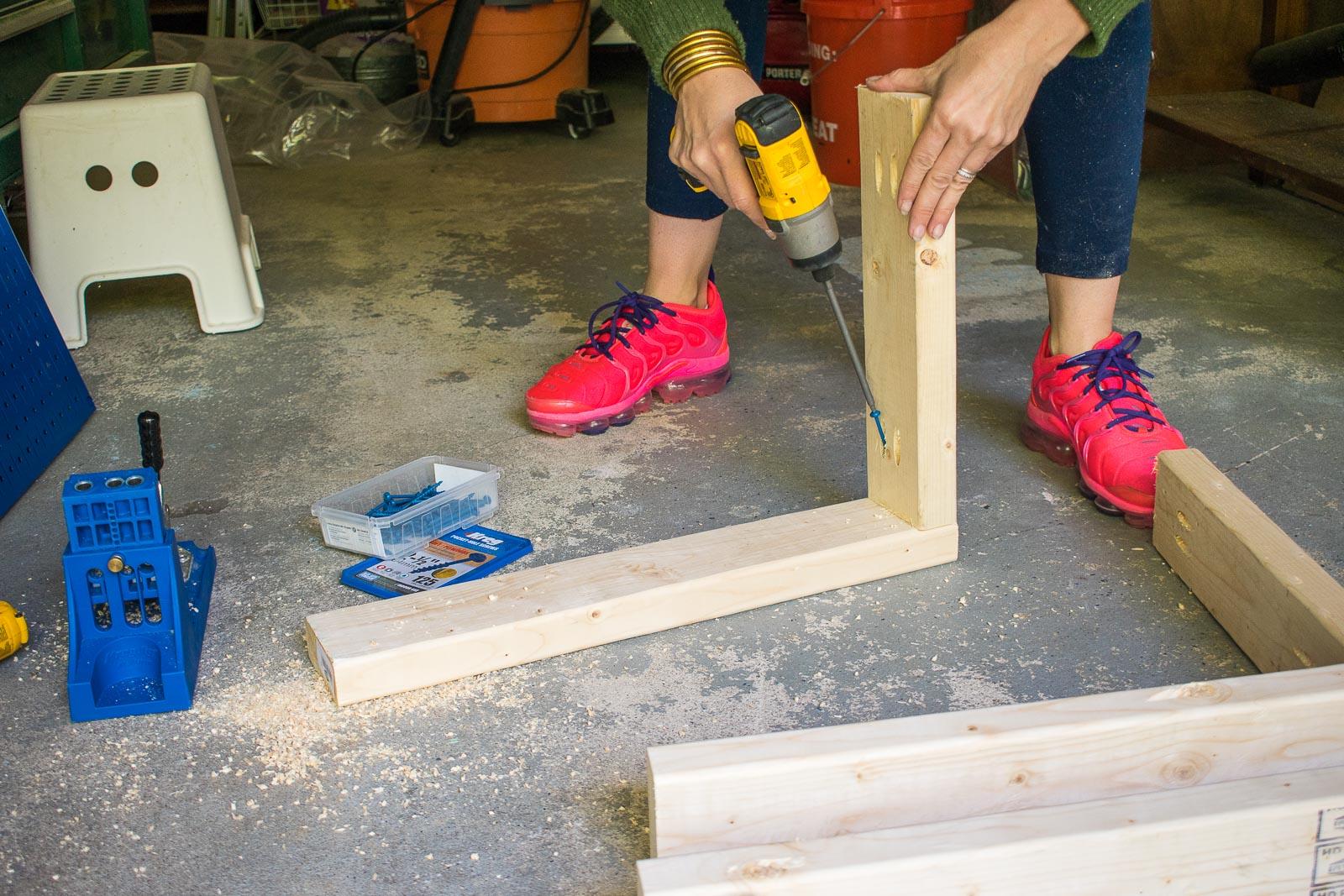 pocket holes to make frames for cart