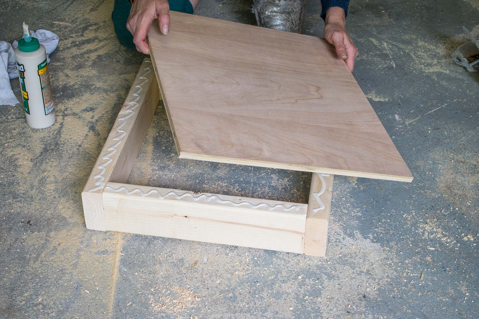 wood glue and screws