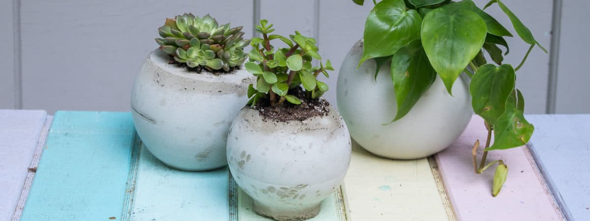 How to Make Easy Cement Orb Planters