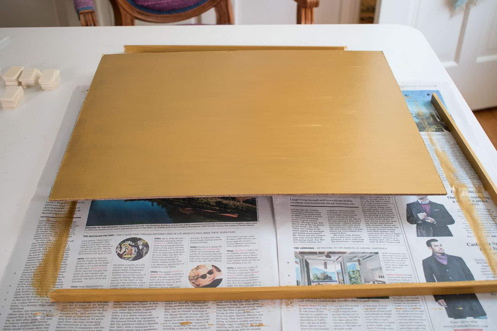 hardboard frame