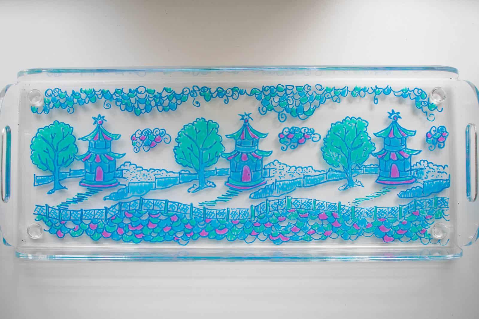traced acrylic tray