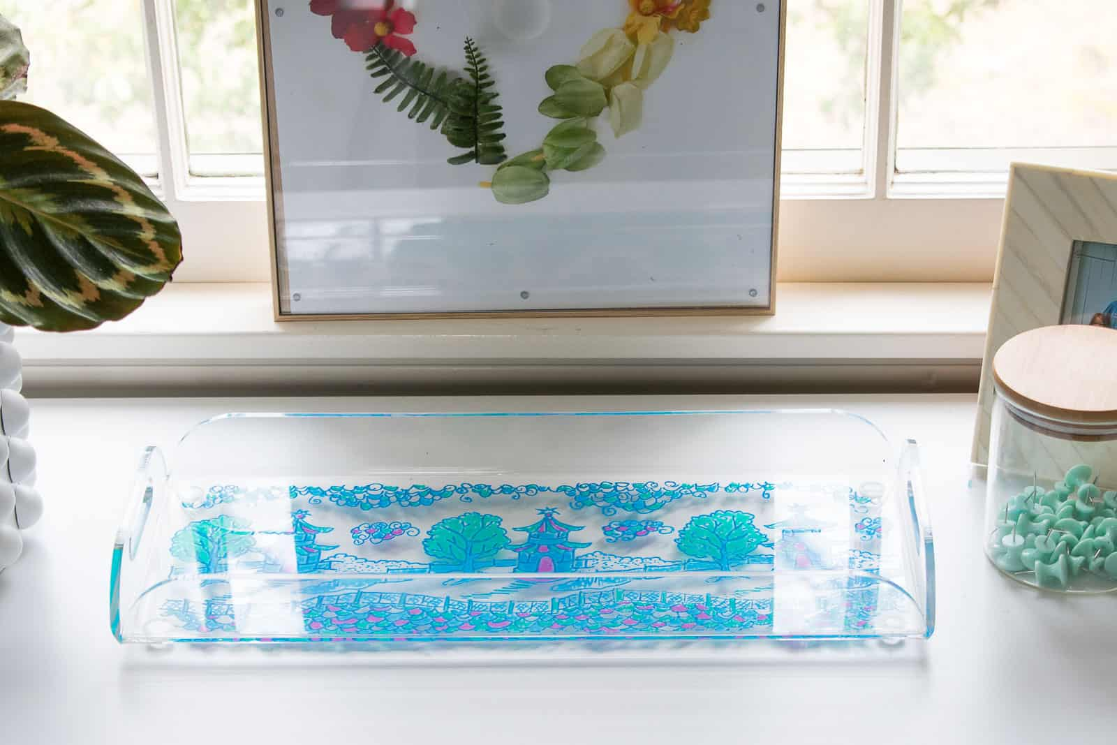clear tray makeover