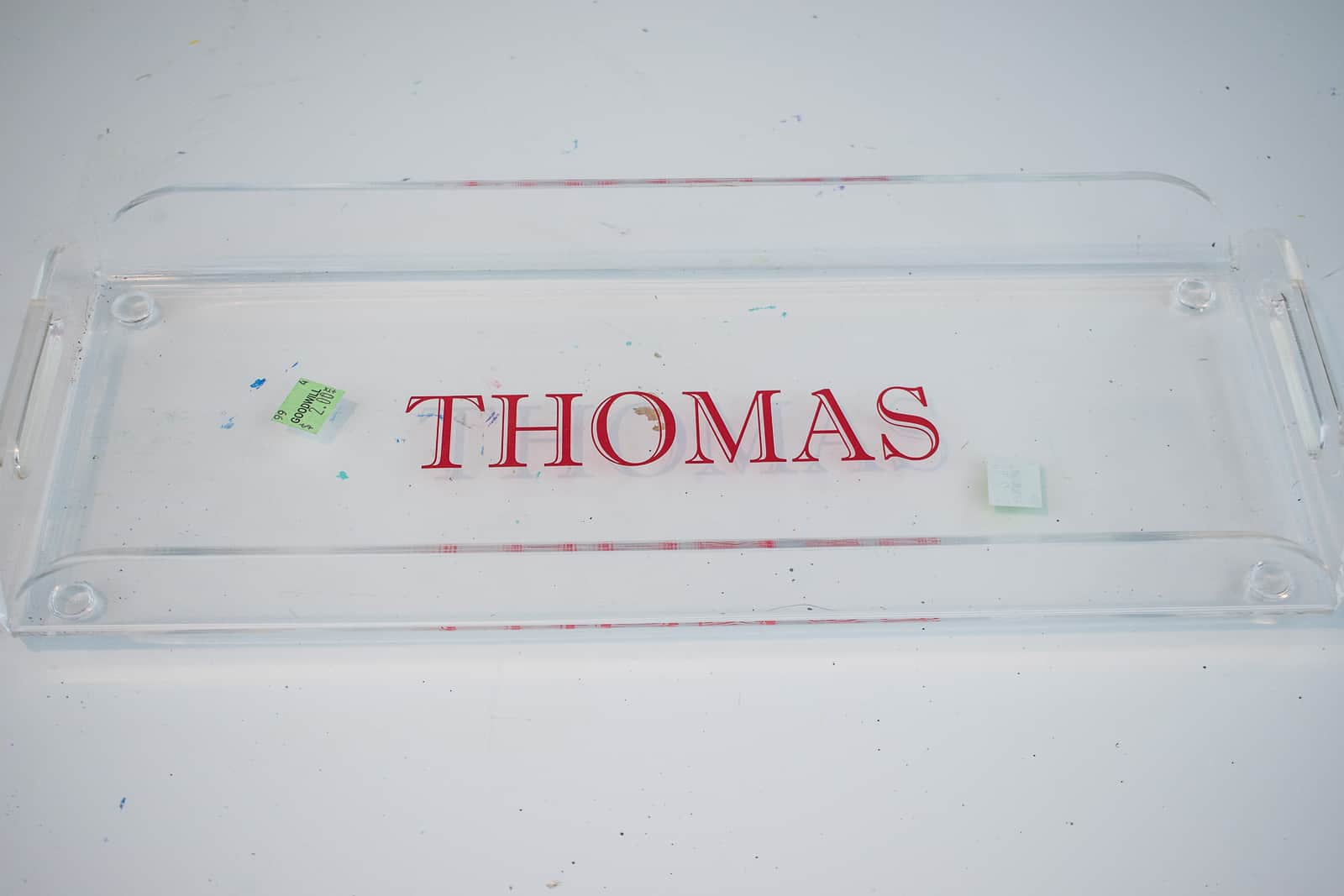 acrylic monogrammed tray