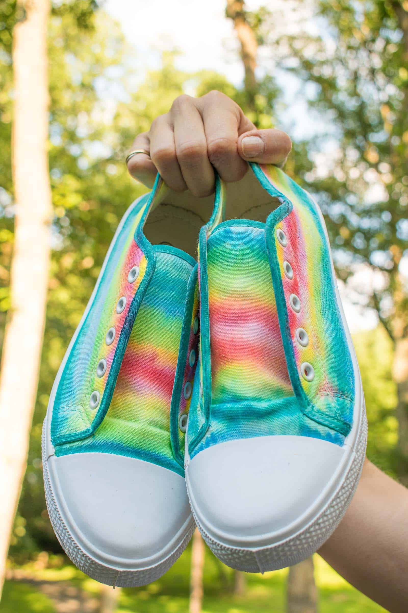 colorful sharpie painted shoes