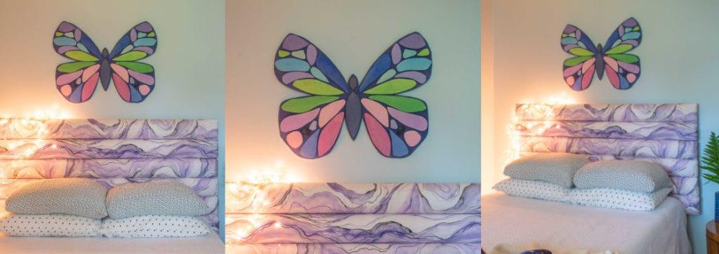 wooden butterfly art