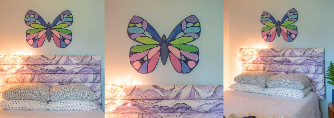 $5 Wooden Butterfly Wall Art