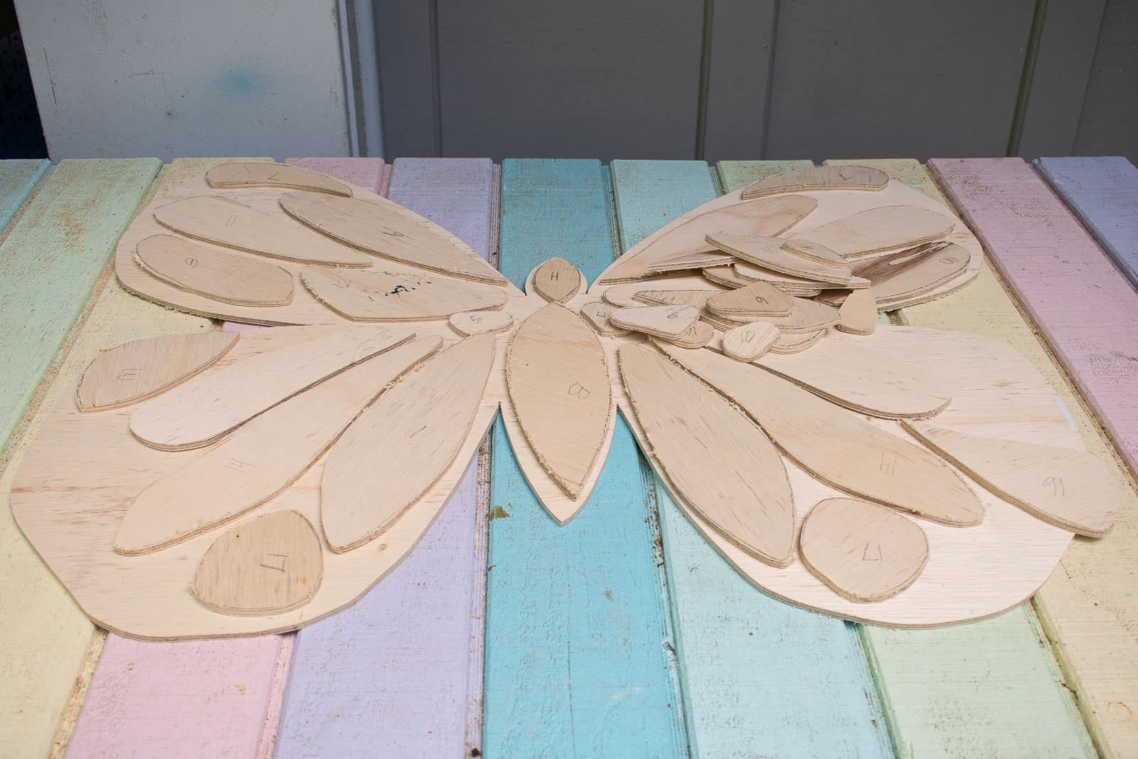 butterfly shapes cut out